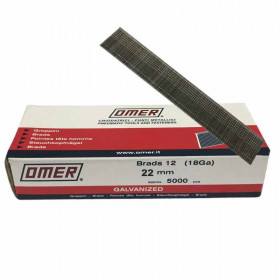 Pointes finette OMER Brads 12 - 22mm - Par 5000 - Fournitures tapissier