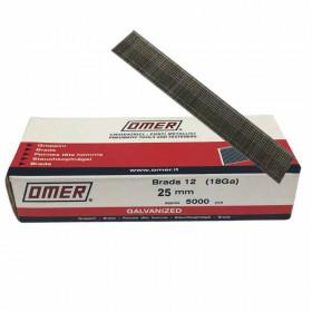 Pointes finette OMER Brads 12 - 25mm - Par 5000 - Fournitures tapissier