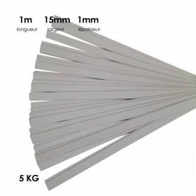 Carton à anglaiser 15x1mm, 5 kg de bandes d'1m - Fournitures tapissier