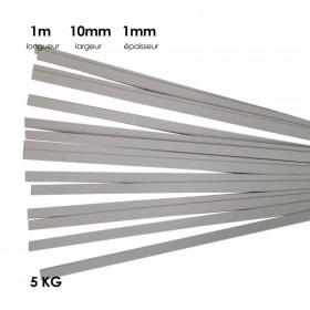 Carton à anglaiser 10x1 mm, 5 kg de bandes d'1m - Fournitures tapissier