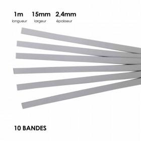 Carton à anglaiser 15 x 2,4 mm, 10 bandes de 1m - Fournitures tapissier