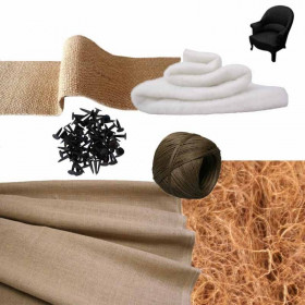 Kit Fauteuil Crapaud Réfection - Fournitures tapissier