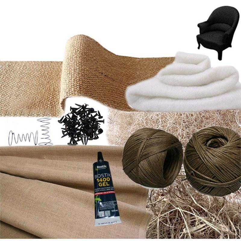 Kit Fauteuil Crapaud Confection - Fournitures tapissier