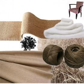 Kit Fauteuil Bridge traditionnel sans ressorts - Fournitures tapissier