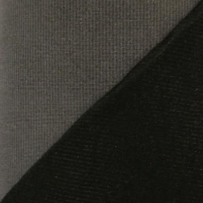 Maille grattée (toile jersey) noire - grise en 150 cm - le mètre