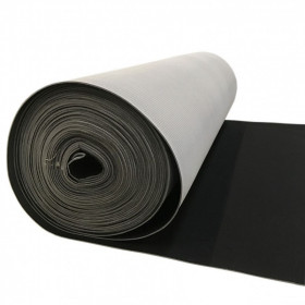 Maille grattée (toile jersey) noir - grise en 150 cm - Le rouleau de 25m - Fournitures tapissier