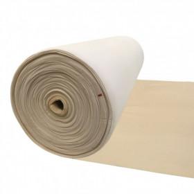 Maille grattée (toile jersey) beige - blanc en 150 cm - Le rouleau de 50m - Fournitures tapissier