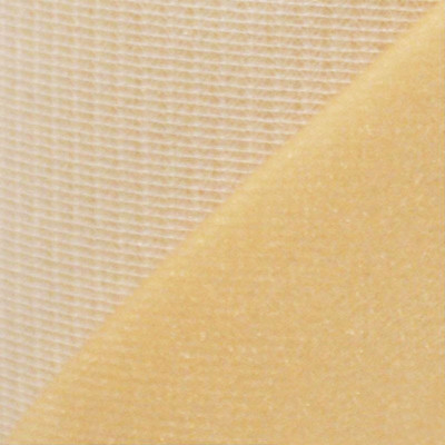 Maille grattée (toile jersey) beige - blanc en 150 cm - le mètre