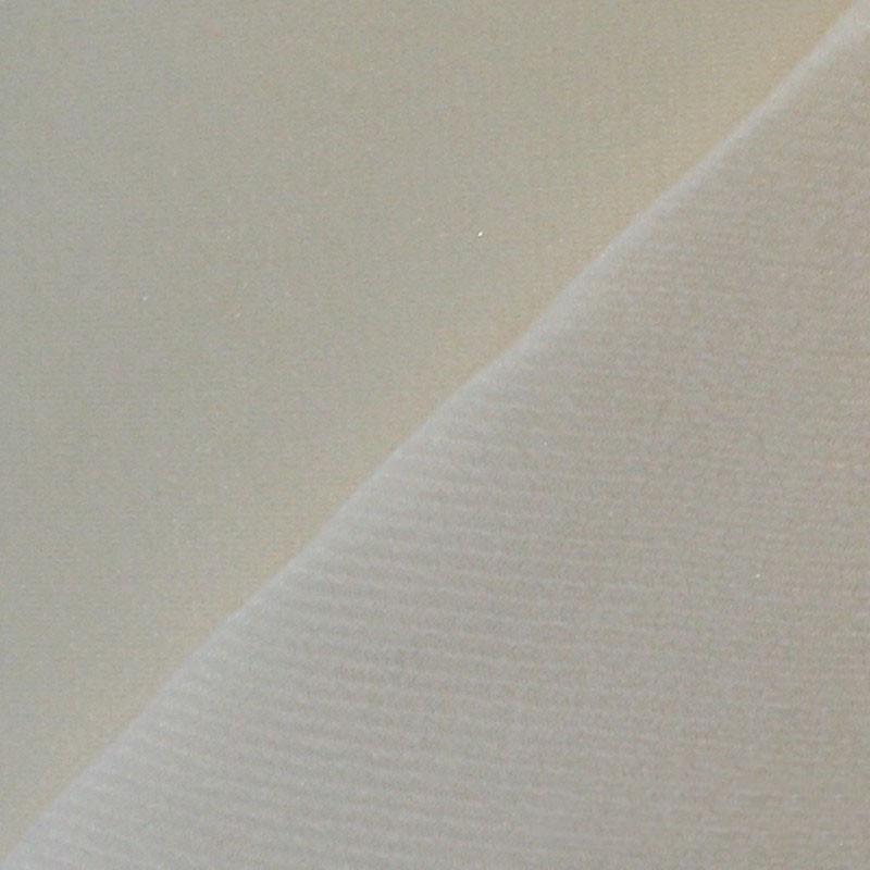 Maille grattée (toile jersey) blanc - blanc cassé en 150 cm - le mètre - Fournitures tapissier