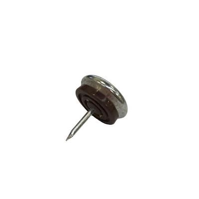 Patin glisseur acier nickelé 1 pointe 23mm