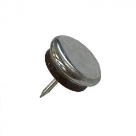 Patin glisseur acier nickelé 1 pointe 23mm - Par 48 - Fournitures tapissier