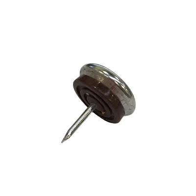 Patin glisseur acier nickelé 1 pointe 30mm