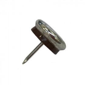 Patin glisseur acier nickelé 1 pointe 30mm - Par 24 - Fournitures tapissier