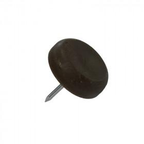 Patin glisseur plastique 1 pointe Ø 15,5 mm - Par 100 - Fournitures tapissier