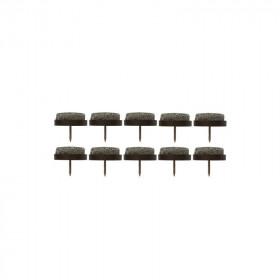 Patin glisseur feutre 25 mm - Par 10 - Fournitures tapissier