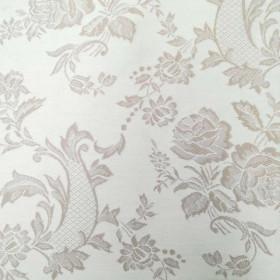 Toile coutil matelas et sommier fleurie 290 g/m² - 245 cm vezelay marron - Fournitures tapissier