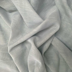 Voilage étamine fin grain gris plombé, 300 cm, le mètre - Tissus ameublement