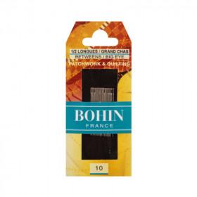 20 Aiguilles demi-longues / grand chas pour patchwork et quilting - BOHIN - Mercerie
