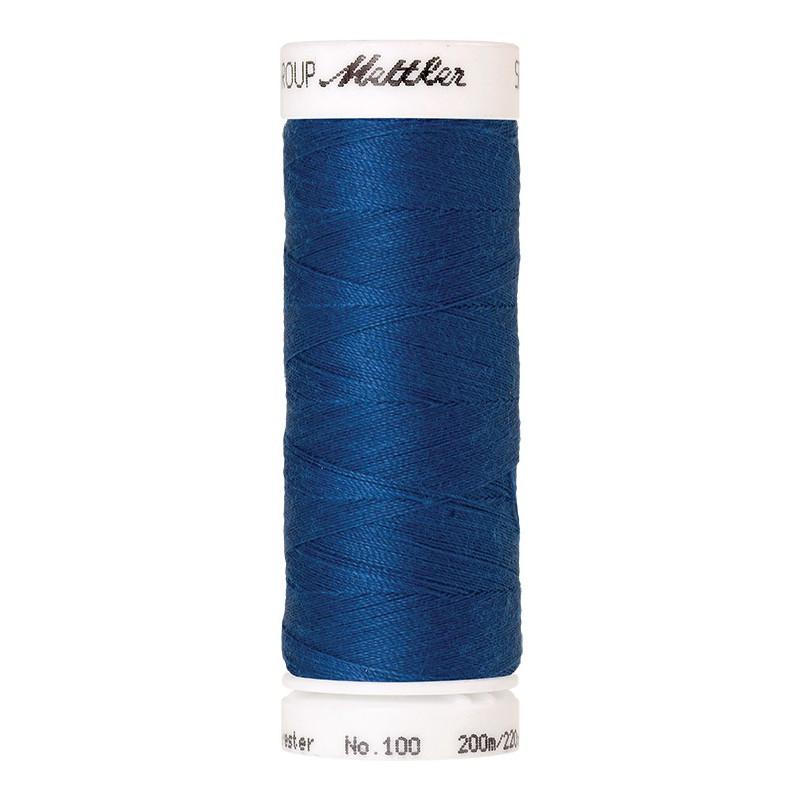 Fil universel Bleu Colonial METTLER SERALON, bobine de 200 M - Mercerie