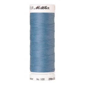 Fil universel Bleu Azur METTLER SERALON, bobine de 200 M - Mercerie