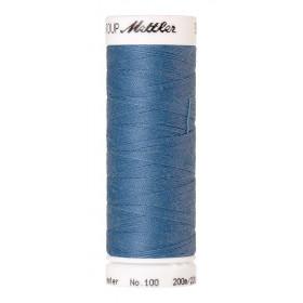 Fil universel Bleu METTLER SERALON, bobine de 200 M - Mercerie