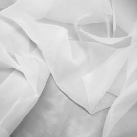 Voilage plein jour blanc plombé, 300cm, le mètre - Tissus ameublement