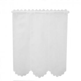 Brise bise blanc 100% polyester, 90cm de haut, le mètre - Tissus ameublement