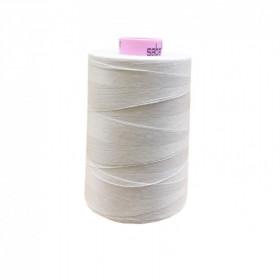 Bobine de fil SABA N°80 - Blanc 2002-5000ml - Mercerie