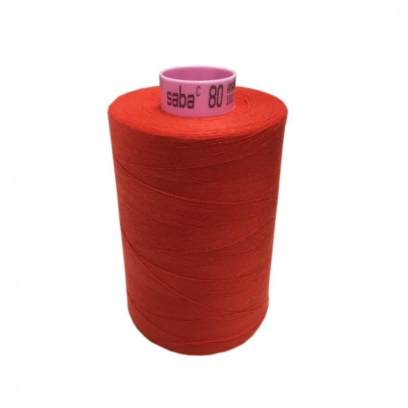 Bobine de fil SABA N°80 - Orange 1336-5000ml - Mercerie