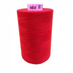 Bobine de fil SABA N°80 - Rouge Carmin 504-5000ml - Mercerie
