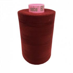 Bobine de fil SABA N°80 - Amarante 128-5000ml - Mercerie