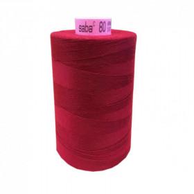 Bobine de fil SABA N°80 - Rouge Passe Velours 106-5000ml - Mercerie