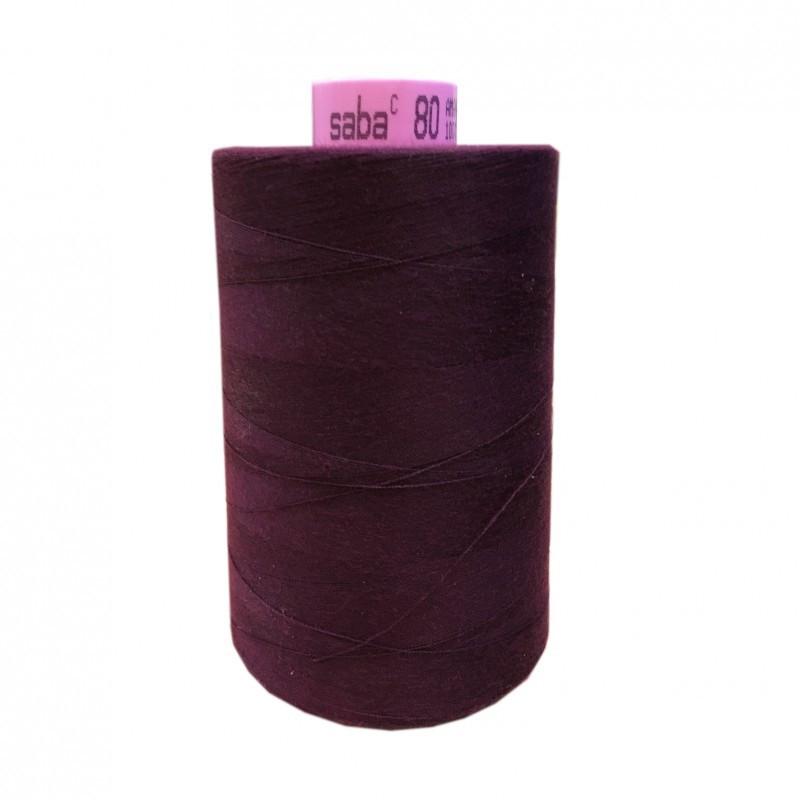 Bobine de fil SABA N°80 - Prune-162-5000ml - Mercerie