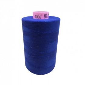 Bobine de fil SABA N°80 - Bleu Electrique -1078-5000ml - Mercerie