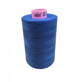 Bobine de fil SABA N°80 -Bleu Azur-815-5000ml - Mercerie