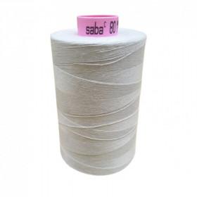 Bobine de fil SABA N°80 -Blanc Azur -38-5000ml - Mercerie