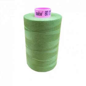 Bobine de fil SABA N°80 - Vert Olive 839 5000ml - Mercerie