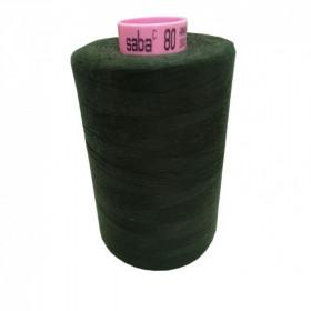 Bobine de fil SABA N°80 -Vert Anglais-846-5000ml - Mercerie
