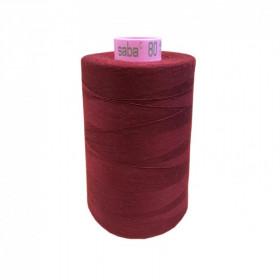 Bobine de fil SABA N°80 -Bordeaux-1348-5000ml - Mercerie
