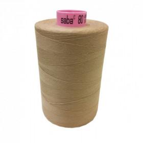 Bobine de fil SABA N°80 -Sable-265-5000ml - Mercerie