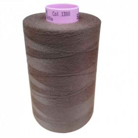 Bobine de fil SABA N°80 - Marron 1380-5000ml - Mercerie