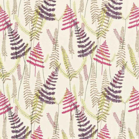 Tissu Scion Collection Melinki One - Athyrium Plum/Fuchsia/Linen/Lime - 125 cm - Tissus ameublement