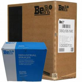 Carton 8 Boites Agrafes type 380 BEA 6mm - 24 000 par boite - Fournitures tapissier