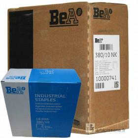 Carton 8 Boites Agrafes type 380 BEA 10mm - 18 000 par boite - Fournitures tapissier