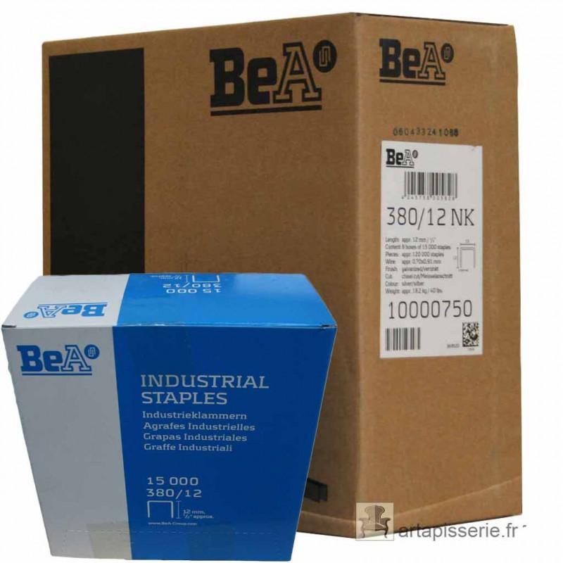 Carton 8 Boites Agrafes type 380 BEA - 12mm - Fournitures tapissier