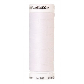 Fil universel Blanc METTLER SERALON, bobine de 200 M - Mercerie
