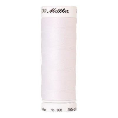 Fil universel Blanc METTLER SERALON, bobine de 200 M