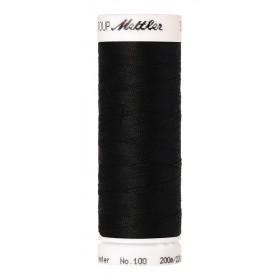 Fil universel Noir METTLER SERALON, bobine de 200 M - Mercerie
