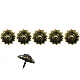 250 Clous tapissiers Bronze renaissance 25 mm - Marguerite - Clous tapissier