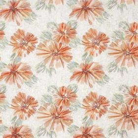 Tissu Camengo - Collection Bonheur - Bonheur Orange - 129cm - Tissus ameublement
